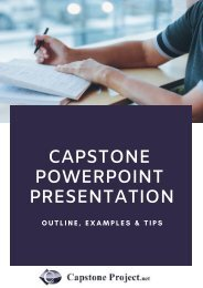 Capstone PowerPoint Presentation: Outline, Examples & Tips