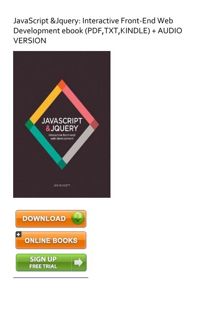 DARING) [PDF] JavaScript & Jquery: Interactive Front-End Web
