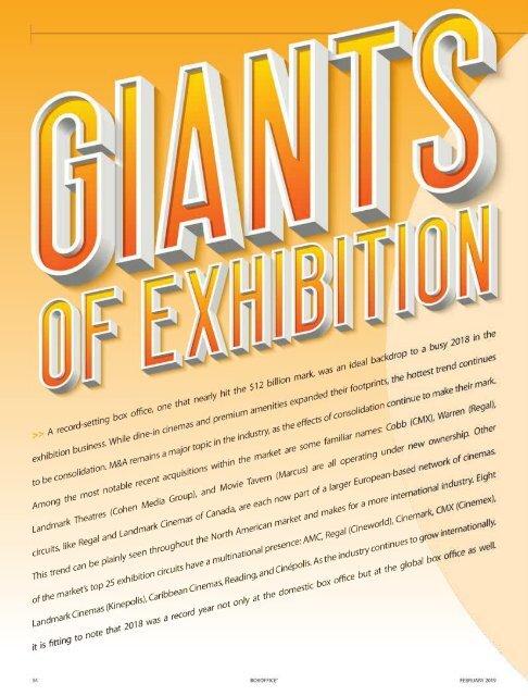 Giants of Exhibition 2019