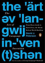 Read online (yumpu 30) Art of Language Invention, The  [DOWNLOAD]