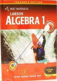 Read online (yumpu 48) Larson Algebra 1: Teacher Edition [PDF]