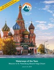 Waterways of the Tsars Aboard Volga Dream, June 5-15, 2019