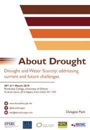 About Drought's Drought & Water Scarcity Conference: addressing current & future challenges