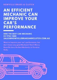 An Efficient Mechanic Can Improve Your Car's Performance