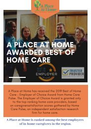 Best of Home Care Award Winners 2019 - A Place at Home _ Senior Assisted Living