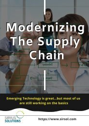 Know The Ways To Modernizing The Supply Chain _ Sirius Solution
