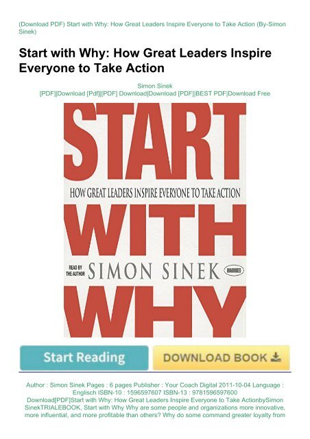 Start with why book free