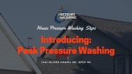 Pressure Washing Steps in Raleigh NC by Peak Pressure Washing