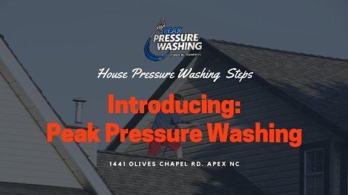 Pressure Washing Steps in Raleigh NC by Peak Pressure Washing