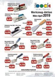 Farben Bock Werkzeug-Aktion 2019