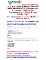 [2019-March-Version] New Security+ SY0-501 Dumps with VCE and PDF Free Share(Q235-Q245)
