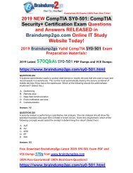 [2019-March-Version] New Security+ SY0-501 PDF and SY0-501 VCE Dumps Free Share(Q224-Q234)
