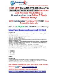 [2019-March-Version] New Security+ SY0-501 PDF and VCE Dumps Free Share(Q246-Q256)