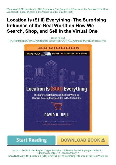 DOWNLOADin[PDF]Location is (Still) Everything: The