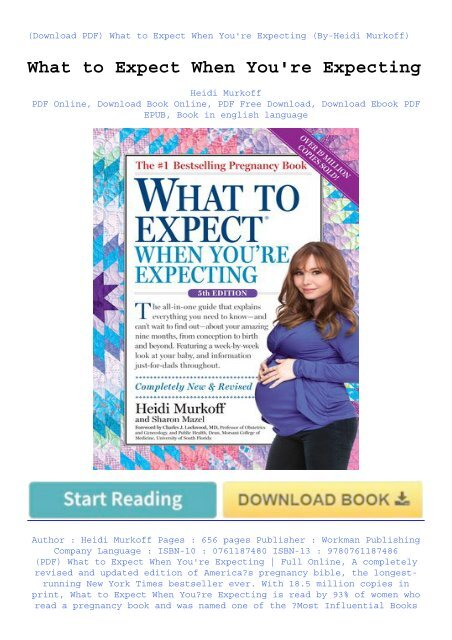 what to expect when youre expecting heidi murkoff pdf download