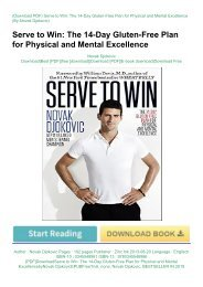 [PDF]DownloadServe to Win: The 14-Day Gluten-Free Plan for Physical and Mental ExcellencebyNovak DjokovicEPUBFreeTrial