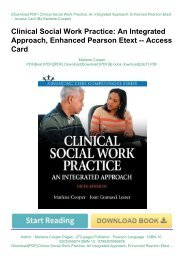 Download[PDF]Clinical Social Work Practice: An Integrated Approach, Enhanced Pearson Etext -- Access CardbyMarlene CooperForOnline