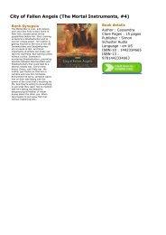 City Of Fallen Angels Ebook