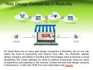 Professional Web Design Companies in Rockville