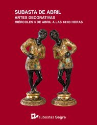 Subasta Artes Decorativas Abril 2019