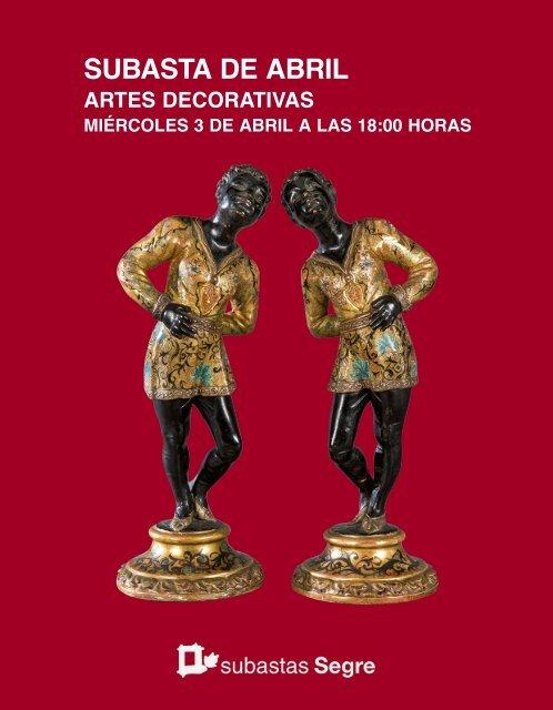 Subasta Artes Decorativas Abril 2019