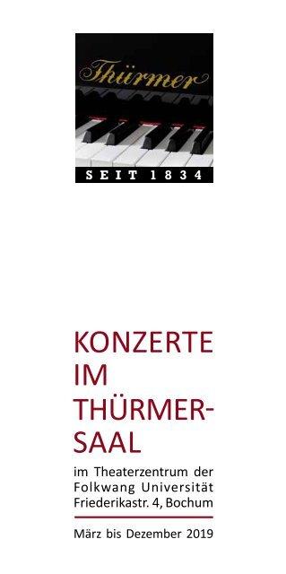 Konzerte im Thürmer-Saal 2019