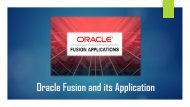 What is Oracle Fusion and its Applications?