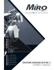 MiRO Catalogue 2019