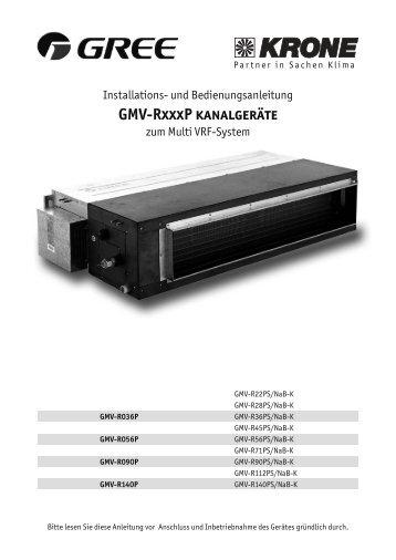 GMV-RxxxP kanalgeräte - KRONE Kälte & Klima GmbH