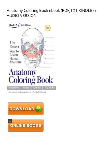- SKYROCKET) Anatomy Coloring Book Ebook EBook PDF