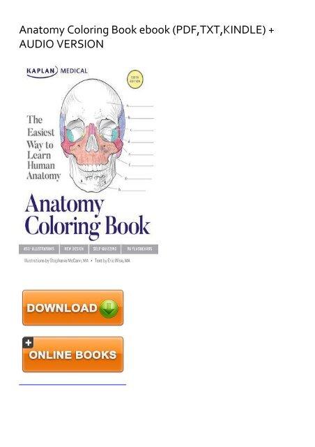 SKYROCKET) Anatomy Coloring Book Ebook EBook PDF