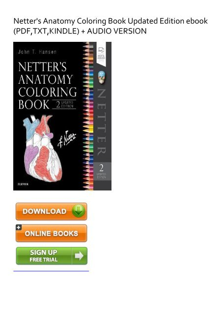 EXHILARATED) Netter\'s Anatomy Coloring Book Updated Edition eBook ...