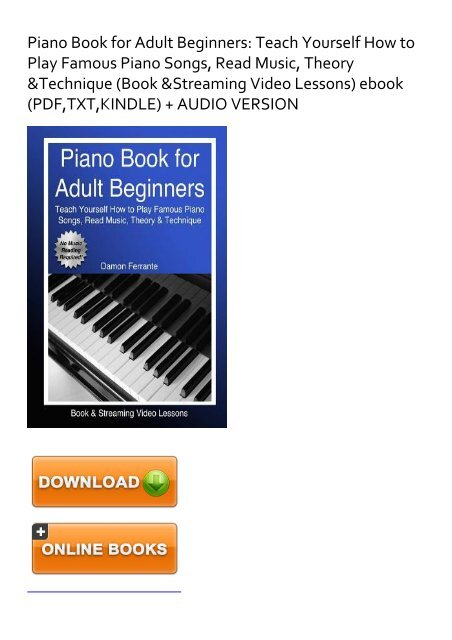 Piano for adult beginners magnificent