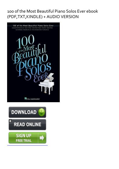 SPONTANEOUS) 100 of the Most Beautiful Piano Solos Ever