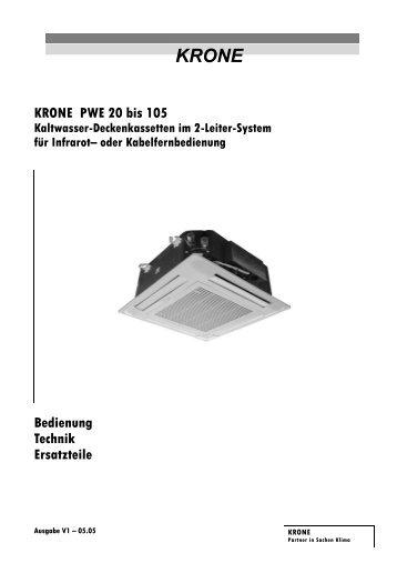 KRONE PWE 20 bis 105 Bedienung Technik Ersatzteile