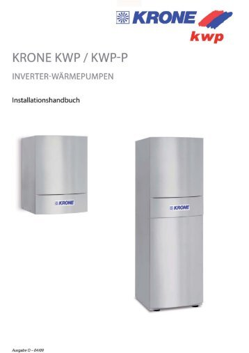 Instructions for installation (6.8 MB) - KRONE Kälte & Klima GmbH