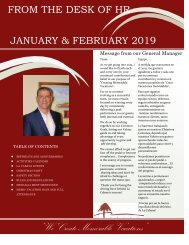 From the Desk of HR January & February 2019