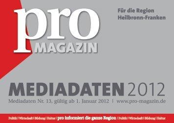 pro - Wirtschaftsregion Heilbronn - Franken