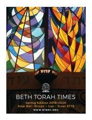 BETH TORAH TIMES Spring Edition 2019/2020