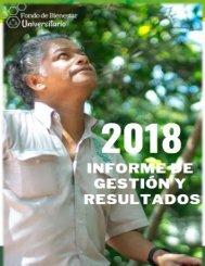 INFORME DE GESTIÓN Y RESULTADOS FBU SEGUNDO SEMESTRE 2018 F