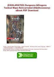 (EXHILARATED) Dungeons & Dragons Tactical Maps Reincarnated (D&d Accessory) eBook PDF Download