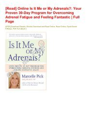 [Read] Online Is It Me or My Adrenals?: Your Proven 30-Day Program for Overcoming Adrenal Fatigue and Feeling Fantastic | Full Page