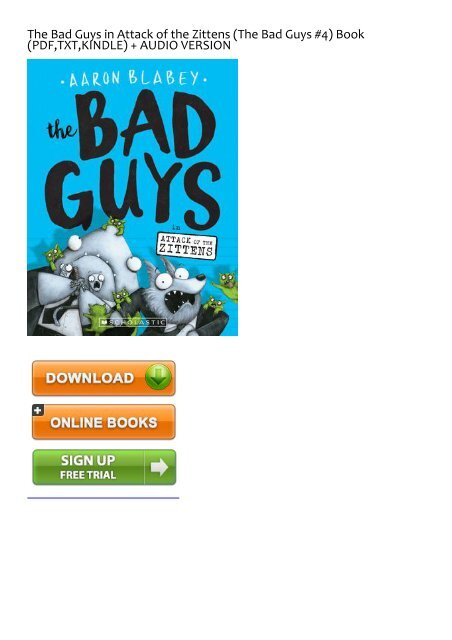 The Bad Guys in Attack of the Zittens The Bad Guys #4