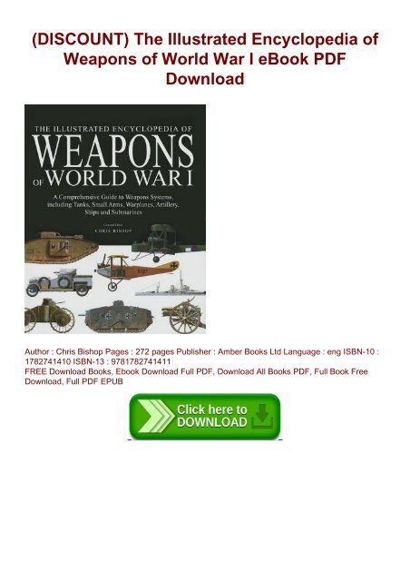 DISCOUNT) The Illustrated Encyclopedia of Weapons of World