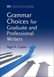 [Download] Free Grammar Choices for Graduate and Professional Writers by Nigel A. Caplan TRIAL EBOOK