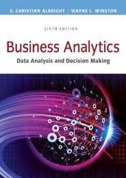 Download [PDF] Business Analytics: Data Analysis & Decision Making by S. Christian Albright Download file