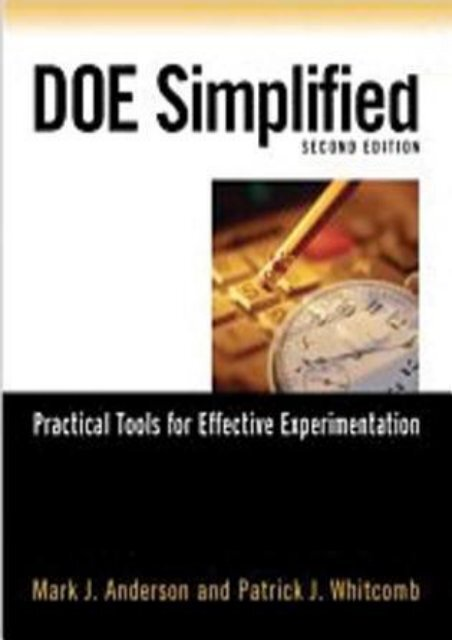 Download Free DOE Simplified: Practical Tools for Effective Experimentation by Mark J. Anderson [Read] online