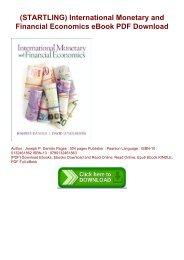 International Monetary And Financial Economics Pdf