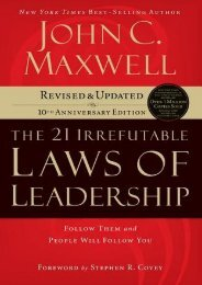 Best [PDF] 21 Irrefutable Laws of Leadership: Follow Them and People Will Follow You by John C. Maxwell Download file