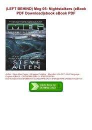(LEFT BEHIND) Meg 05: Nightstalkers {eBook PDF Download|ebook eBook PDF
